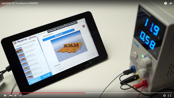 Druckserver mit Touchdisplay